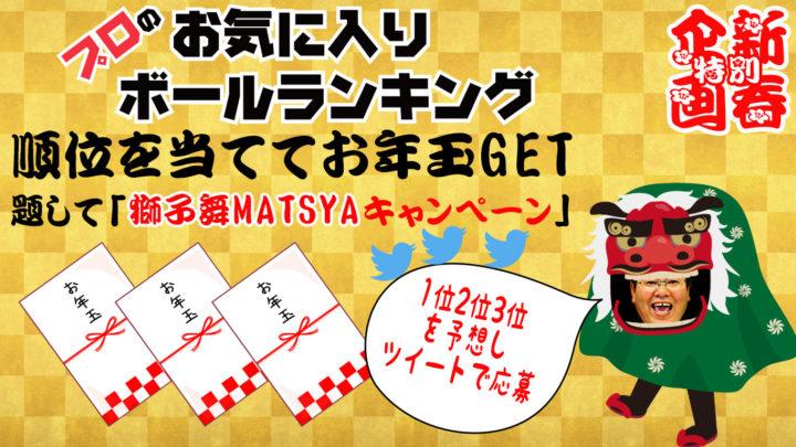 新春 獅子舞MATSUYAキャンペーン